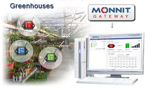 Using Monnit Wireless Sensors to monitor environmental conditions like water and humidity in greenhouses
