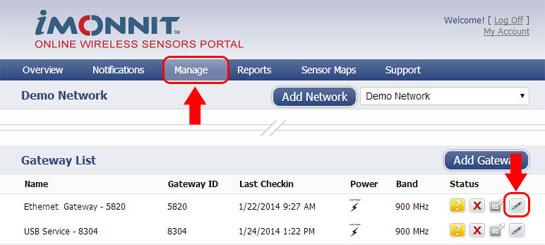 Manage Sensor Network
