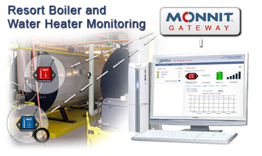 Using Monnit wireless sensors to monitor resort boilers and water heaters