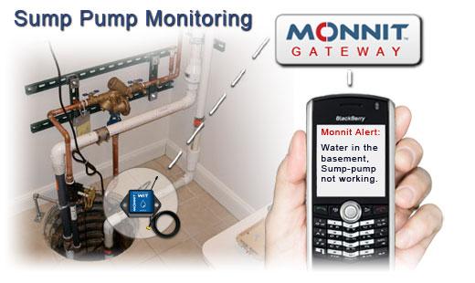 using wireless sensors to monitor sump pumps monnit