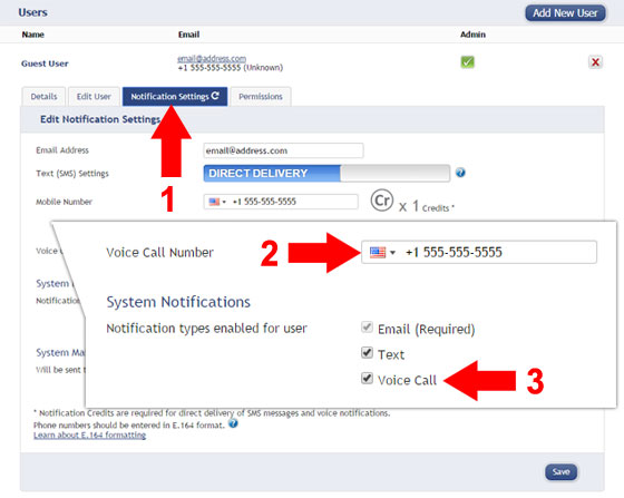 Setup Voice Call Notifications in iMonnit