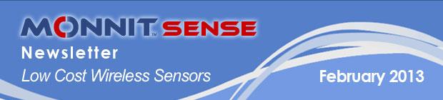 MonnitSense Newsletter - February 2013