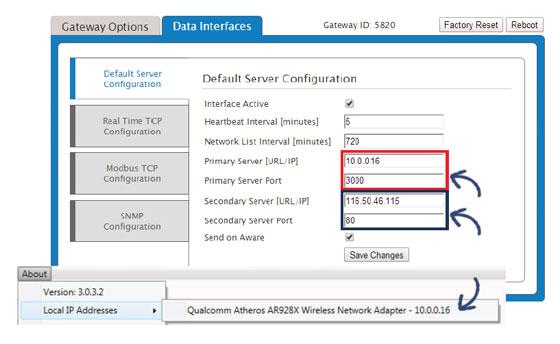 Configure Ethernet Gateway