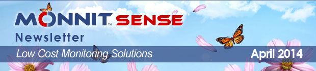 MonnitSense Newsletter - April 2014