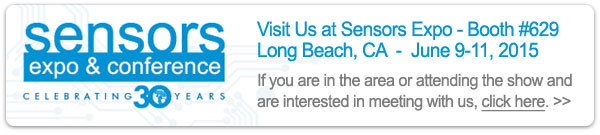 Meet with us at Sensors Expo 2015