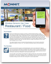 Monnit - Wireless Sensors Use Case for Restaurants and Food Service
