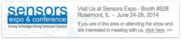Schedule a meeting with us at Sensors Expo