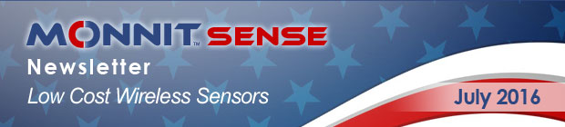 MonnitSense Newsletter - July 2016
