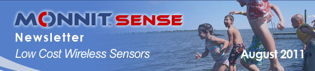 MonnitSense Newsletter - August 2011