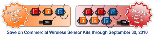 Commercial Wireless Sensor Kits - On Sale Now.