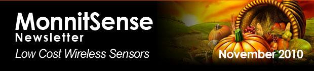 MonnitSense Newsletter - November 2010