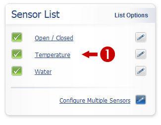 Sensor List Overview Image