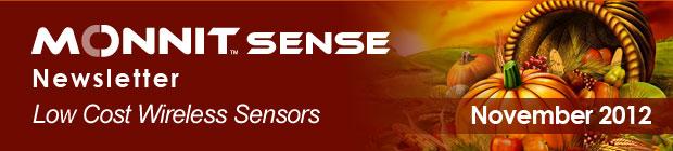 MonnitSense Newsletter - November 2012