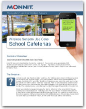 Monnit - Wireless Sensors Use Case for School Cafeterias