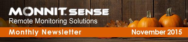 MonnitSense Newsletter - November 2015