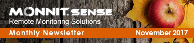 MonnitSense Newsletter - November 2017