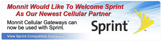 Monnit Cellular Gateways now work with Sprint