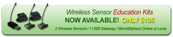 Wireless Sensor Education Kits - Now Available for only $105.